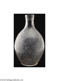 Art Glass:Other , Val Saint Lambert: AN OVERLAID AND ETCHED GLASS VASE (Val ...