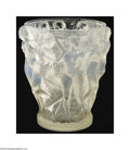 Art Glass:Lalique, Rene Lalique: AN OPALESCENT MOLD-BLOWN GLASS VASE (Rene ...