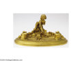 Decorative Arts, Continental:Other , Louchet: A FRENCH FIGURAL DORE BRONZE STANDISH (Louchet)