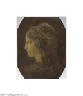 Decorative Arts, French:Other , Solomon: A FRENCH BRONZE PLAQUE (Solomon)