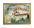 Paintings, REUVEN RUBIN (Israeli 1893-1974). Jerusalem. Oil on canvas. 21.25in. x 29in.. Signed lower right: Rika/ Rubin. Texas Frame C...