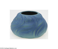 Van Briggle: AN AMERICAN POTTERY SQUATTER VASE (Van Briggle) Van Briggle, c.1915  The bulbous shape with periwinkle over...
