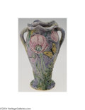 Ceramics & Porcelain, American:Modern  (1900 1949)  , Weller: A SILVERTONE AMERICAN POTTERY VASE