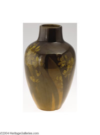 Rookwood: AN AMERICAN POTTERY VASE (Rookwood) Rookwood, c.1900  The standard glaze with a brown to green floral designs...