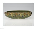 Ceramics & Porcelain, American:Modern  (1900 1949)  , Roseville: A BLACKBERRY AMERICAN POTTERY FACETED LOW BOWL (...