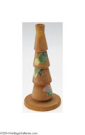Ceramics & Porcelain, American:Modern  (1900 1949)  , Roseville: A FUTURA AMERICAN POTTERY TAPERING STACKED VASE