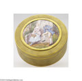 Decorative Arts, French:Other , Limoges: AN ENAMEL FRENCH LIDDED BOX (Limoges)