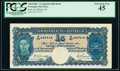 World Currency, Australia Commonwealth of Australia 5 Pounds ND (1941) Pick 27b PCGS Extremely Fine 45.. ...