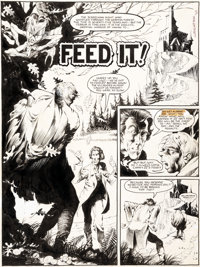 "Bernie Wrightson Web of Horror #3 Complete Large-Scale 6-Page Story ""Feed It!"" (Major Magazines, 1970).... (To..."