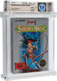 Castlevania II: Simon's Quest [Rev-A, Round SOQ, Early Production] Wata 7.5 A Sealed NES Konami 1988 USA