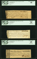 Continental Congress Lottery Tickets Three Different Classes November 18, 1776 PCGS Graded. ... (Total: 3 items)