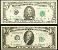 Black Ink Smear on Face Error Fr. 1980-B $5 1988A Federal Reserve Note. About Uncirculated; Partial Face to Bac... (Tota...