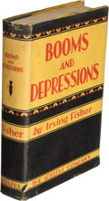 Books:Americana & American History, Irving Fisher. Booms and Depressions. Some First Principles. New York: Adelphi Company Publishers, [1932]. First...