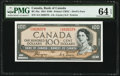 World Currency, Canada Bank of Canada $100 1954 BC-35a Devils Face PMG Choice Uncirculated 64 EPQ.. ...