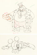 Animation Art:Production Drawing, Brave Little Tailor Mickey Mouse and...