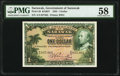 World Currency, Sarawak Government of Sarawak 1 Dollar 1.1.1935 Pick 20 KNB27 PMG Choice About Unc 58.. ...