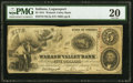 Obsoletes By State:Indiana, Logansport, IN- The Wabash Valley Bank $5 Jan. 2, 1854 PMG Very Fine 20.. ...