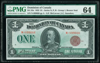 Canada Dominion of Canada $1 2.7.1923 Pick 33e DC-25e PMG Choice Uncirculated 64