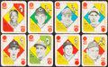 Baseball Cards:Sets, 1951 Topps Red Backs Complete Set (52) And Partial Blue Backs Set (24/52) Plus 1 Pack. ...