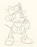 Animation Art:Production Drawing, Mickey's Fire Brigade Mickey Mouse P...