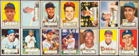1952 Topps Baseball Low Number Partial Set (296/310) Plus 3 High #'s
