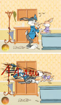 """Animation Art:Limited Edition Cel, """"Say Ah!"""" Bugs Bunny Signed Limited Edition 2-Cel Diptych ..."""