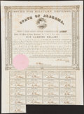Obsoletes By State:Alabama, (Montgomery), AL- State of Alabama Bond $500 Apr. 1, 1861 Cr. 61A1 Very Fine-Extremely Fine.. ...