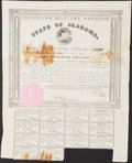 Obsoletes By State:Alabama, Montgomery, AL- State of Alabama Bond $1,000 1861 Cr. 61D Fine.. ...