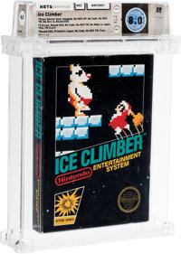Ice Climber [Gloss Sticker, Second Production] Wata 8.0 CIB NES Nintendo 1985 USA