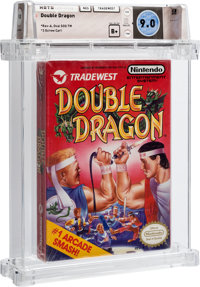 Double Dragon [Oval SOQ TM, Later Production] Wata 9.0 B+ Sealed NES Tradewest 1988 USA