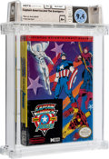 Captain America and The Avengers [Oval SOQ R] Wata 9.4 A+ Sealed NES Data East 1991 USA
