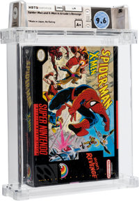 Spider-Man and X-Men in Arcade's Revenge [Made in Japan] Wata 9.6 A+ Sealed SNES LJN 1992 USA