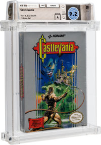 Castlevania [Oval SOQ TM, Later Production] Wata 9.2 A Sealed NES Konami 1987 USA