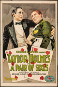 """Movie Posters:Comedy, A Pair of Sixes (Essanay, 1918). Folded, Fine+. One Sheet (28"""" X 42""""). Comedy.. ..."""