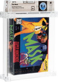 The Mask - Atwood Collection Wata 9.4 A+ Sealed SNES Black Pearl 1995 USA
