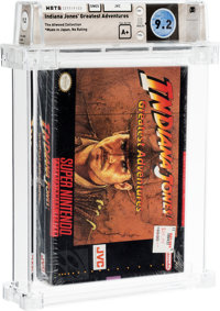 Indiana Jones' Greatest Adventures - Atwood Collection Wata 9.2 A+ Sealed SNES JVC 1994 USA