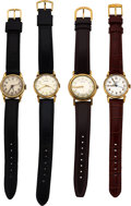Timepieces:Wristwatch, Four Hamilton Center Second Wristwatches, Boatswain,