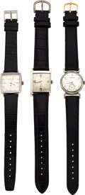 "Timepieces:Wristwatch, Three Hamilton Watches, Lord Lancaster ""C"", Clinton and Darwin Models. ... (Total: 3 Items)"