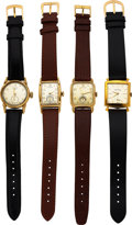 Timepieces:Wristwatch, Four Hamilton Watches, Amherst, Langdon, Medford 1953, and...