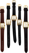Timepieces:Wristwatch, Five Hamilton Watches, Perry 1948, Martin, Alan, Cranston ...