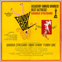 "Funny Girl (Columbia, 1968). Folded, Very Fine. Six Sheet (80"" X 79"") Academy Award Style, Bob Peak Artwork. M..."