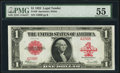 Large Size:Legal Tender Notes, Fr. 40 $1 1923 Legal Tender PMG About Uncirculated 55.. ...
