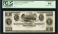 Obsoletes By State:Ohio, Akron, OH- Portage Canal and Manufacturing Company $1 18__ Proof Wolka 0023-01 PCGS Very Choice New 64.. ...