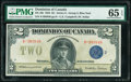World Currency, Canada Dominion of Canada $2 23.6.1923 Pick 34i DC-26i PMG Gem Uncirculated 65 EPQ.. ...
