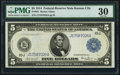Fr. 881 $5 1914 Federal Reserve Note PMG Very Fine 30