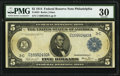 Large Size:Federal Reserve Notes, Fr. 853 $5 1914 Federal Reserve Note PMG Very Fine 30.. ...