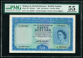 Malaya and British Borneo Board of Commissioners of Currency 50 Dollars 21.3.1953 Pick 4b KNB4a PMG About Uncirculated 5...