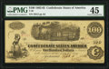 Confederate Notes:1862 Issues, T40 $100 1862 PF-5 Cr. 300 PMG Choice Extremely Fine 45.. ...