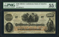 Confederate Notes:1862 Issues, T41 $100 1862 PF-5 Cr. 315 PMG About Uncirculated 55 EPQ.. ...