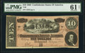 Confederate Notes:1864 Issues, T68 $10 1864 PF-20 Cr. 546 PMG Uncirculated 61 Net.. ...